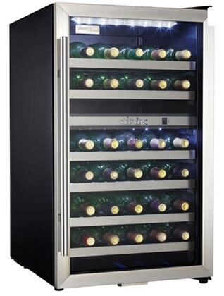 "Danby DWC114BLSDD 19.44"" Freestanding Wine Cooler, in Black on Stainless"