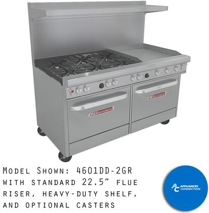 """Southbend 43611G Ultimate Range Series 36"""" Gas Range with Four Standard Non-Clog Burners, One Manual Griddle, and Standard Cast Iron Grates"""