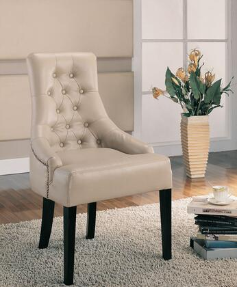 Coaster 900284 Accent Seating Series Armchair Bonded Leather Wood Frame Accent Chair