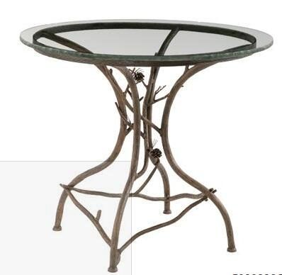 "Stone County Ironworks 904-036 Pine Ice Cream Table With 36"" Round"