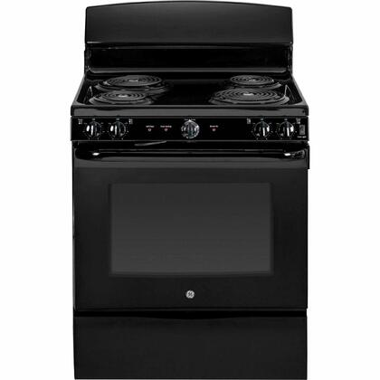 "GE JB450DFBB 30""  Black Electric Freestanding Range with Coil Element Cooktop, 5.0 cu. ft. Primary Oven Capacity, Storage"