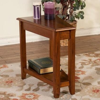 """Sunny Designs Collection 2226XX 16"""" Chair Side Table with Apron, Tapered Legs and Bottom Shelf in"""
