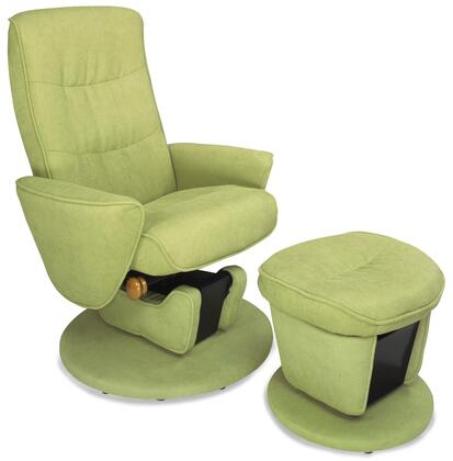 """Mac Motion LAVAL Relax-R Recliner and Ottoman with 360 Swivel Motion, 9"""" Glider and Fabric Upholstery in"""