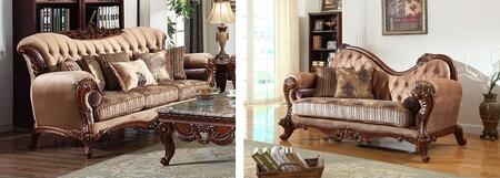 Meridian 605SCH Bordeaux Living Room Sets