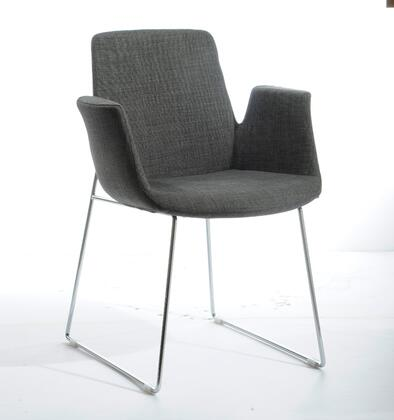 VIG Furniture VGOBTY100FGRY Modrest Altair Series Modern Fabric Metal Frame Dining Room Chair