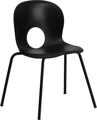 "Flash Furniture HERCULES Series RUT-NC258-XX-GG 17.75"" 770 lb. Capacity Designer Plastic Stack Chair with Black Powder Coated Frame Finish, Plastic Floor Glides, and Ships Fully Assembled"