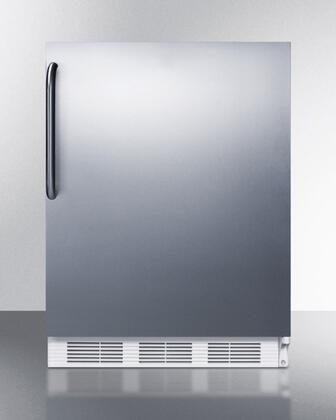 "AccuCold BI540SSXX 24"" Dual Evaporator Undercounter Refrigerator with 5.1 cu. ft. Capacity, Cycle Defrost, 2 Wire Shelves, Cycle Defrost, and Adjustable Thermostat: Stainless Steel"