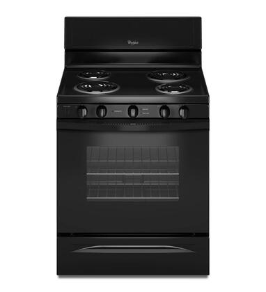 "Whirlpool WFC340S0AB 30""  Electric Freestanding Range with Coil Element Cooktop, 4.8 cu. ft. Primary Oven Capacity, Storage in Black"