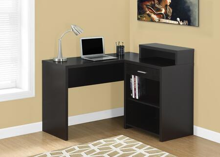 "Monarch I 712X 48"" Computer Desk with Three Open Shelves, One Drawer and Contemporary Style"