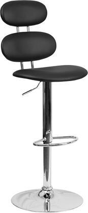 Flash Furniture CH112280BKGG Residential Vinyl Upholstered Bar Stool