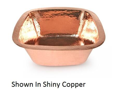 D'Vontz BP2001L35 Plain Hammered Copper Square Prep Sink With 77% Recycled Copper, 99% Pure Copper & In