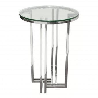 Diamond Sofa DEKODESS Deko Series Contemporary Metal Round None Drawers End Table