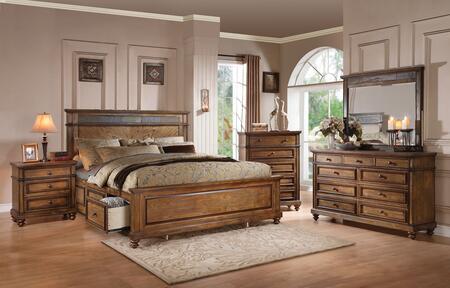 Acme Furniture 24474CK5PC Arielle California King Bedroom Se
