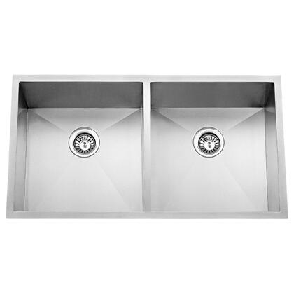 """Barclay KSSDB253  Jenessa Collection 33"""" Stainless Steel 50/50 Double Bowl Undermount Sink"""