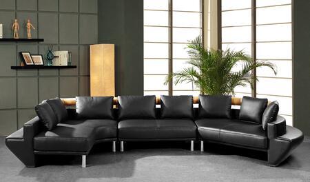 VIG Furniture VG2T0510HL Divani Casa Jupiter Ultra Series Stationary Leather Sofa