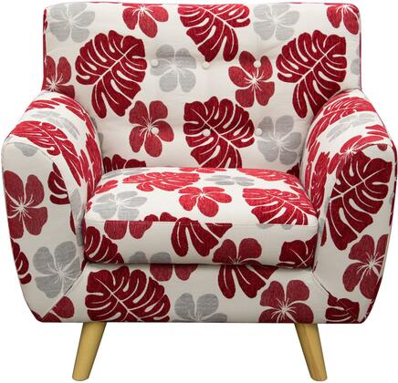 Diamond Sofa SCARLETTCHREPT Scarlett Series Armchair Fabric Wood Frame Accent Chair