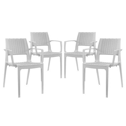 Modway EEI2414GRYSET Astute Series Contemporary Plastic Frame Dining Room Chair