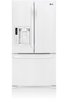 "LG LFX28978SW Freestanding French Door 27.6 cu. ft. No 35.75"" French Door Refrigerator 