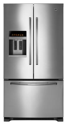 Maytag MFI2665XEM Ice20 Series French Door Refrigerator with 25.5 cu. ft. Capacity in Monochromatic Stainless Steel