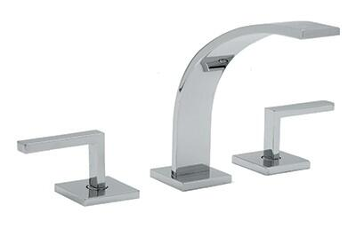 Rohl WA102L--2 Modern Collection WAVE 3-Hole Deck Mounted Widespread Faucet With Lever Handles: