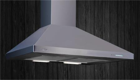 Volterra Stainless Wall Mounted Range Hood: Standard View Mounted on a Wall