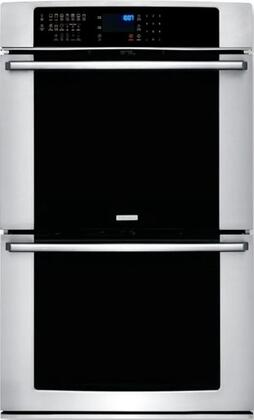 Electrolux EIEW45PS Built In Double Wall Oven with Fresh Clean Technology, Convection Conversion, Hidden Bake Element, Signature Cobalt Blue Interior, Sabbath Mode and IQ Touch Controls, in Stainless Steel