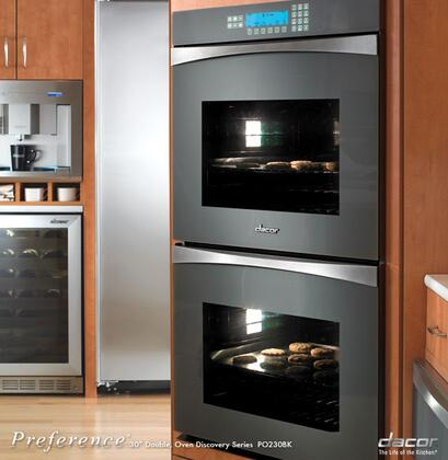 Dacor PO230BK Double Wall Oven, in Black
