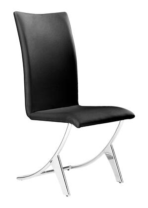 Zuo 102101 Delfin Series Modern Faux Leather Metal Frame Dining Room Chair