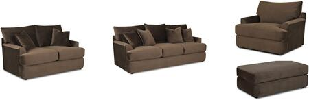 Klaussner K56830KL4PCSTLARMBNKIT1 Findley Living Room Sets