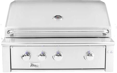 "Summerset Grills ALT36 36"" Alturi Series Built-In Grill with 3 Main Burners, 18000 BTU Infrared Burner, 945 sq. in. Cooking Area, LED Front Panel Lighting, in Stainless Steel"