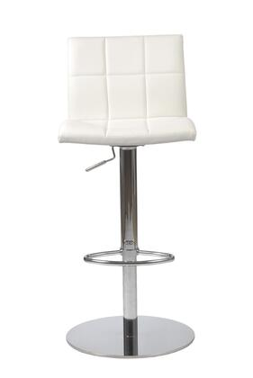 Euro Style 17180WHT Curley Series  Bar Stool