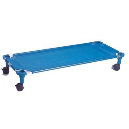 "Mahar 525T 52"" Blue Fabric Unassembled Cot Dolly With Color Leg (Standard Size)"