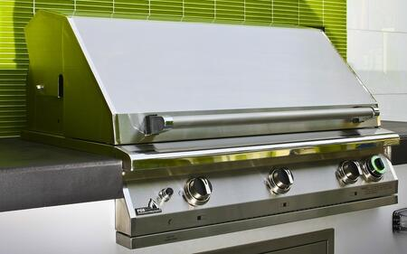 """PGS S36T PGS T- Series Pacifica 39"""" Stainless Steel Commercial Grill Head with Built In One Hour Gas Timer"""