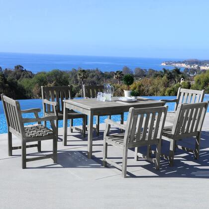 Vifah v1297set15 rectangular shape patio sets appliances for Outdoor furniture 0 finance