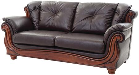 "Glory Furniture 85"" Sofa with Wood Trim, Removable Back, Button Tufted Back Cushion, Turned Bun Feet, Pocketed Coil Seating and Glove Soft Faux Leather Cover in"