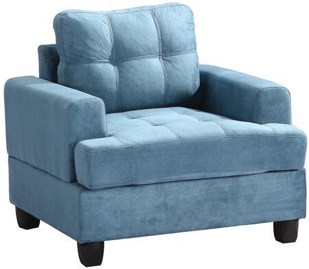 Glory Furniture G518AC Suede Armchair in Aqua