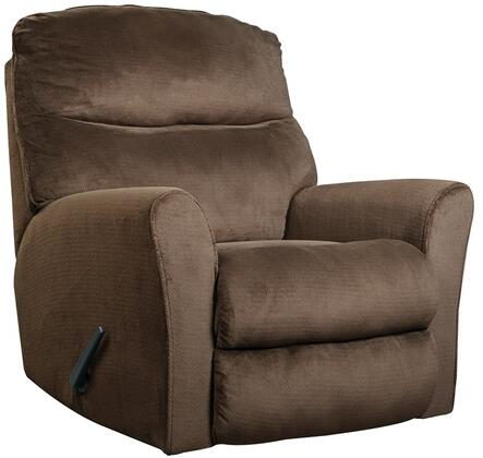 Flash Furniture Signature Design by Ashley Cossette Rocker Recliner with Rolled Padded Arms, Plush Pillow Back, Rocker Feature, Lever Recliner and Fabric Upholstery in