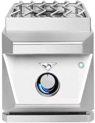 """Twin Eagles TESB131Cx 13"""" Built-In Side Single Burner with 17500 BTU, Built-In Wind Guard, Illuminated Controls and Stainless Steel Cover"""