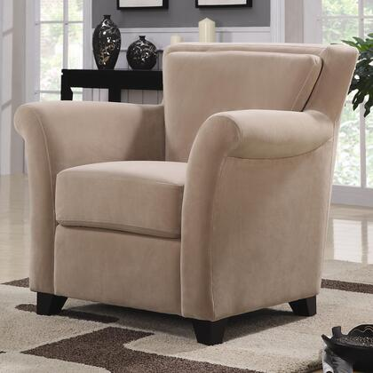 Coaster 900303 Club Faux Leather Wood Frame Accent Chair