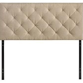 Modway MOD-5XXX-XXX Theodore Contemporary Queen Size Headboard with Button Tufted Details, LVL, MDF and Plywood Frame, and Fine Vinyl Upholstery in