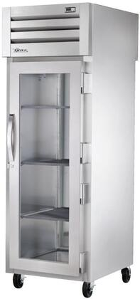True STA1RPT-1 Spec Series Pass-Thru Refrigerator with 31 Cu. Ft. Capacity, LED Lighting, and Glass Front and Solid Rear Swing-Doors