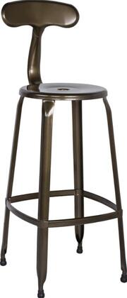 Chintaly 8035BSBLK 8035 Series Residential Not Upholstered Bar Stool