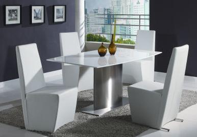 Chintaly CYNTHIA5PIECESETWHITE Cynthia Dining Room Sets