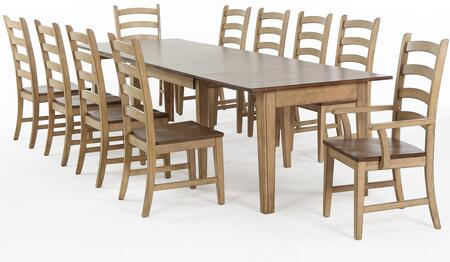 Sunset Trading DLU-BR134-PW11PC Brook Dining Room Sets