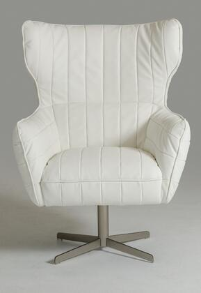 VIG Furniture VGKKA963WHT Divani Casa Kylie Series Armchair Metal Frame Accent Chair