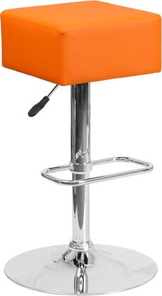 Flash Furniture CH820584ORGG Residential Vinyl Upholstered Bar Stool