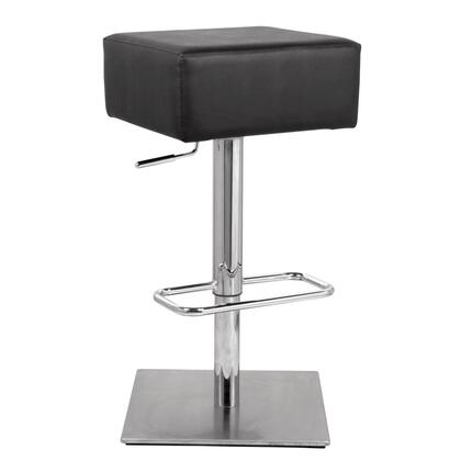 Fine Mod Imports FMI10018BLACK Marshmallow Series Residential Faux Leather Upholstered Bar Stool