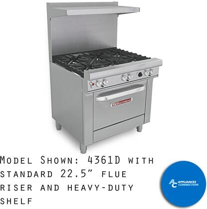 "Southbend 4363 Ultimate Ranges Series 36"" Gas Range with Six Star/Saute Burners and Standard Cast Iron Grates, Up to 198000 BTUs (NG)/144000 BTUs (LP)"