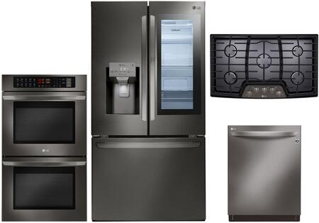 Lg 1040027 4 Piece Black Stainless Steel Kitchen Appliances Package