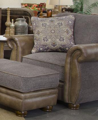 """Jackson Furniture Pennington Collection 4439-01- 46"""" Chair with Chenille Fabric Upholstery, Bun Feet and Nail Head Accents in"""